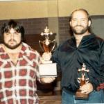 Nov 1984 with Marty Corum , Marty Squatted 750 raw that day